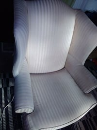 white and gray striped sofa chair Waterloo, 29384