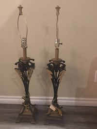 2 antique metal lamps just needs new shades Brampton, L6S 2M2