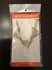 New Fashion gold and diamond pendant chain link necklace Edmonton, T5T 1A5