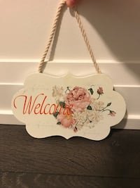 white and pink floral ceramic table decor Vaughan, L4L
