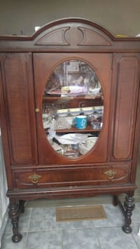 brown wooden cabinet with mirror Barrie, L4N 6C4