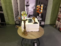 TIFFANY-STYLE STAINED GLASS BUTTERFLY CANDLESTICKS SET - FJN Cambridge, N1P 1E3