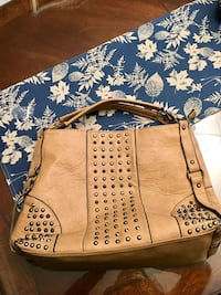 brown leather 2-way bag in excellent condition