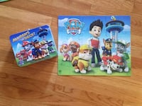 Kid's Paw Patrol puzzle with tin Sterling