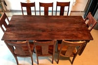 EUC COST PLUS WORLD MARKET SOURAV DINING TABLE, BUFFET TABLE, AND 8 CHAIRS Oceanside, 92056