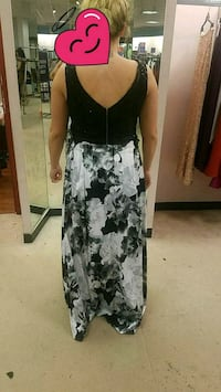 black and white floral dress La Vista, 68128