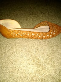 Brown slip ons,flats. New