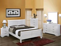 Louis Philip White Sleigh Bedroom Set | B3600   Houston, 77036
