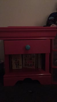Pink and blue nightstand(2drawers) 859 mi