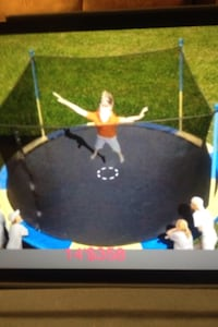 Used Children S Black Blue And Yellow Trampoline