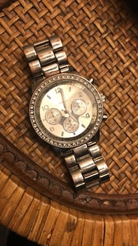 chronograph watch with link bracelet Enid, 73703