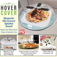 New hover cover magnetic microwave splatter guard