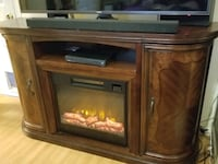 TV  Beautiful solid wood remote electric fireplace Las Vegas, 89107