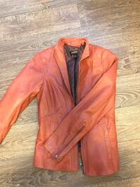 brown leather zip-up jacket Calgary, T3M 2A3