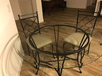 Glass top dining table and 4 chairs Sun Lakes, 85248