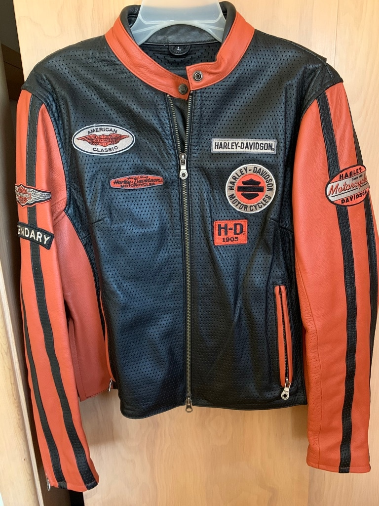 Photo Womens Harley Davidson Genuine Leather Jacket / Size Large