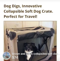 Collapsible cage for medium size dog