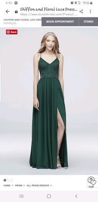 Chiffon & Floral Lace dress w/ Beaded Waist Cupertino, 95129