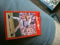 black and red baseball player trading card Monroe, 48162