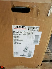 Ridgid K-400 Drum Machine Regina