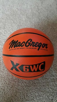 macgregor orange and black basketball