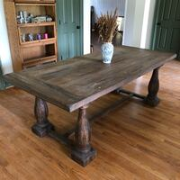 8 seater dining table kitchen farmhouse wood huge Rock Hill, 29732