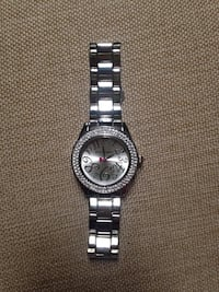 Like New Working Betsey Johnson Silver Tone Stainless Steel Watch With Rhinestones Authentic  Louisville, 40213