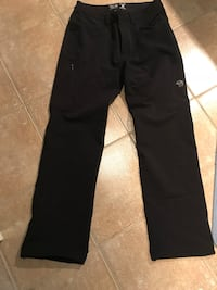 black and white Adidas track pants