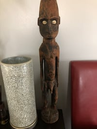Very old wooden art piece known as fertility god Welland, L3C