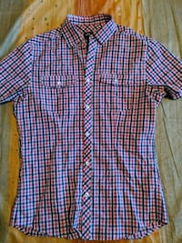 Slim fit size small plaid short sleeve button up Toronto, M1C