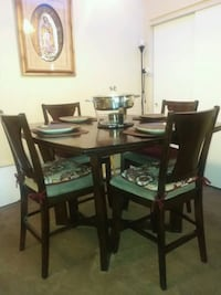rectangular brown wooden table with six chairs dining set Las Vegas, 89118