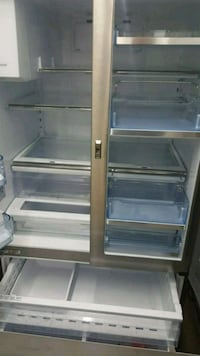 gray French-door refrigerator
