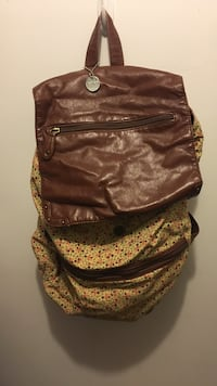 brown and yellow floral leather backpack Altoona, 16602