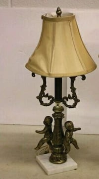 brown and beige bell table lamp Vanessa, N0E 1V0