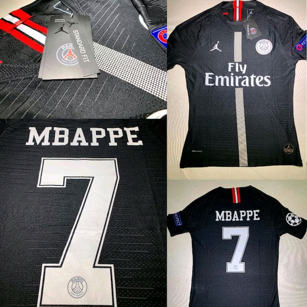 quality design cbff3 aa38c Jordan PSG Mbappe 7 Authentic Jersey (All sizes)