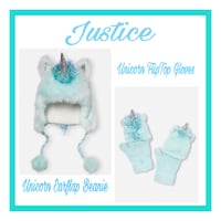Justice Set..Earflap Beanie and Flip-Top Gloves, Girls One Size Virginia Beach, 23451
