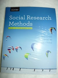 Textbook: Social Research Methods, 3rd edition (in shrink wrap) - $115 Mississauga Mississauga