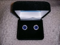 $800 New Big screw post Sapphire Earrings Manchester, 03103