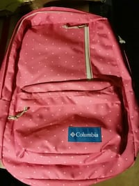 red Columbia backpack