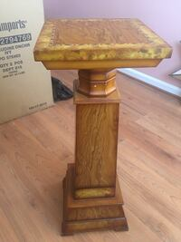 brown wooden table with drawer