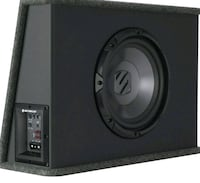 black and gray scosche subwoofer Fergus, N1M 2C7