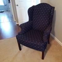 Navy Blue Wingback Chair Simpsonville, 29681