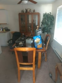 Full wood table & chairs ,china cabnet  Courtenay, V9N 3W5