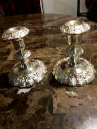 2 silver-colored Candle Holders  London, N6K