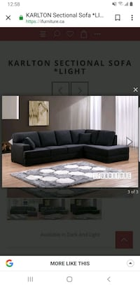 L sectional all black Edmonton, T6L 2R5