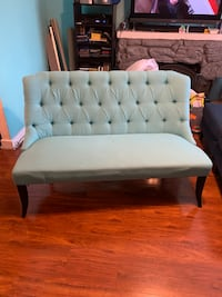 Settee sofa couch teal blue $250 obo