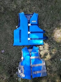 two blue life vests Orange, 06477