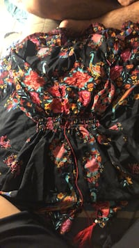 black and red floral print dress Kaneohe, 96744