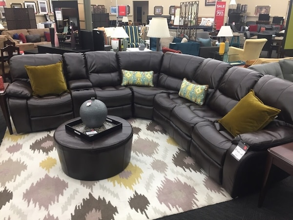 Brand New Brown Reclining Sectional