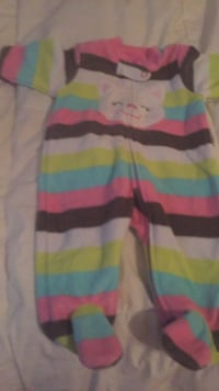 white, pink, and green stripe sweater New York, 11385